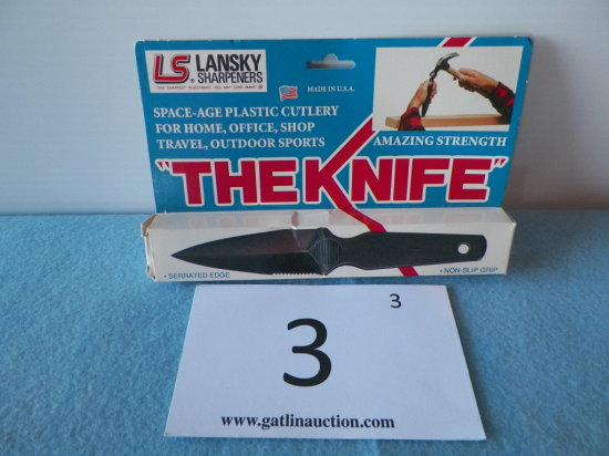 """Lansky """"The Knife"""" Space Age Plastic Cutlery"""