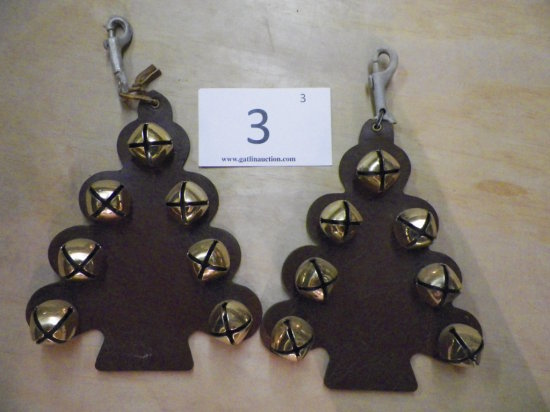 2 Sets of Christmas Tree Shaped Sleigh Bells