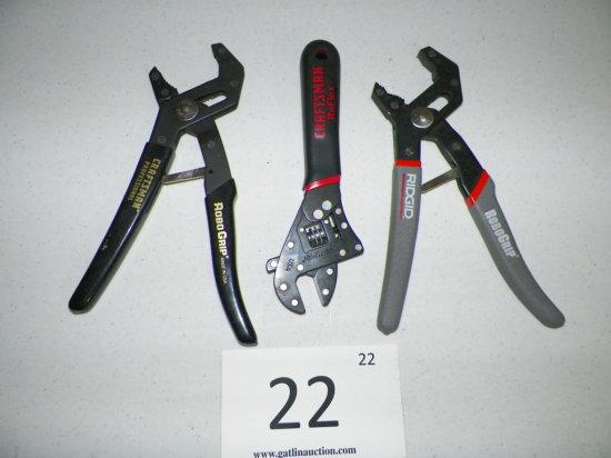 Craftsman Robo Grip, Craftsman Flex Adjustable Wrench, Ridgid Robo Grip