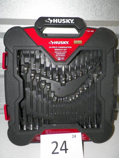 Husky 34 pc Comination Wrench Set SAE/MM
