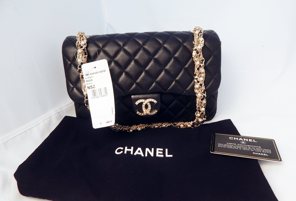 ce000ceb72f9 Lot  Chanel Medium Westminster Flap Bag with Pearls