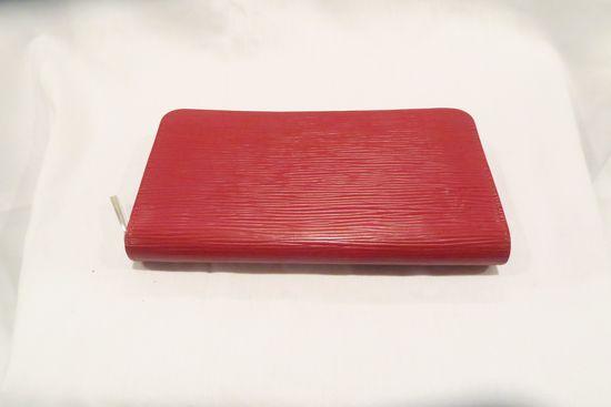 Louis Vuitton Red EPI Leather Zip Around Wallet