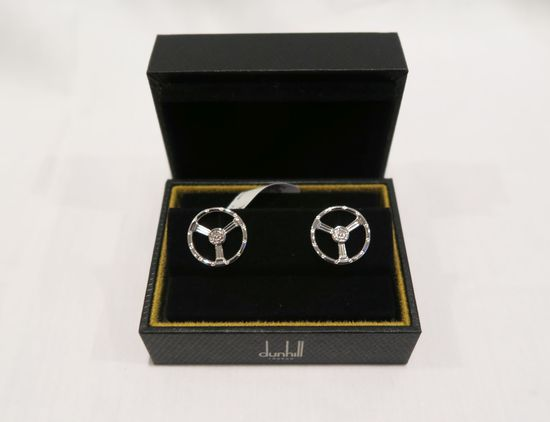Dunhill Sterling Silver Cufflinks (in box)