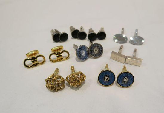 (9) Sets Assorted Cufflinks