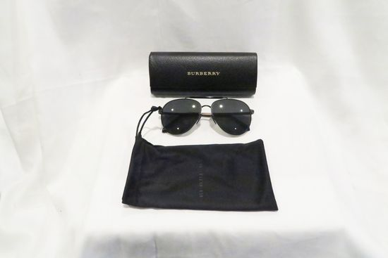 Burberry Sunglasses, Black, Model B3097 1007/5v 59014, w/case and dustbag