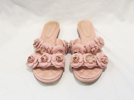 Pink Chanel Sandals, worn, size 35