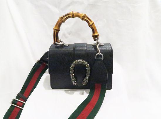 Gucci Dionysus Mini Leather Bamboo-Handle Bag