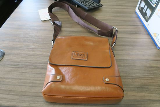 LRZZ Laorenzhizun Brown Leather Small Messenger Bag