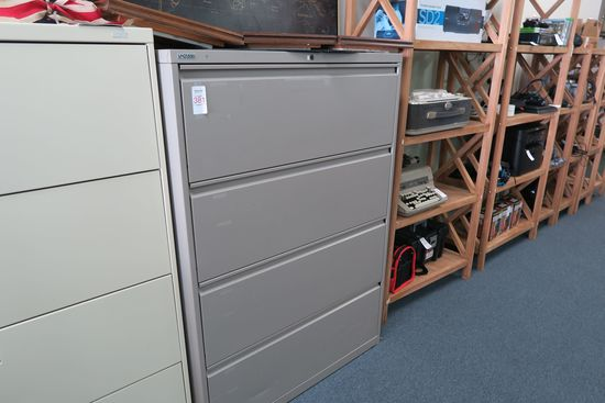 Gray 4-Drawer Lateral File Cabinet