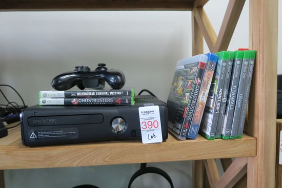 Xbox 360 with 7 Games and 1 Controller