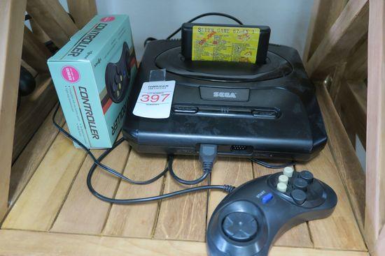 Sega Genesis with 2 Controllers
