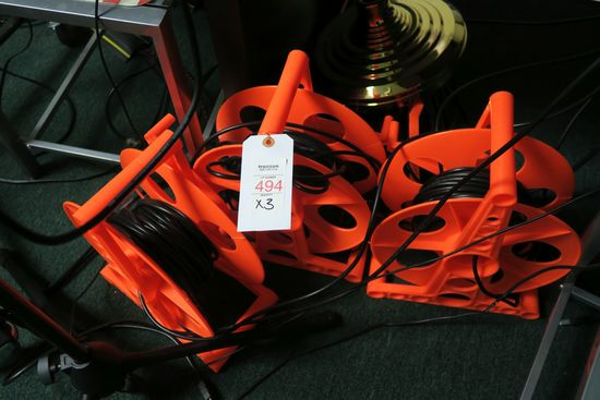 Cable Reels w/ Cables (This item must be removed on Wednesday, April 24)