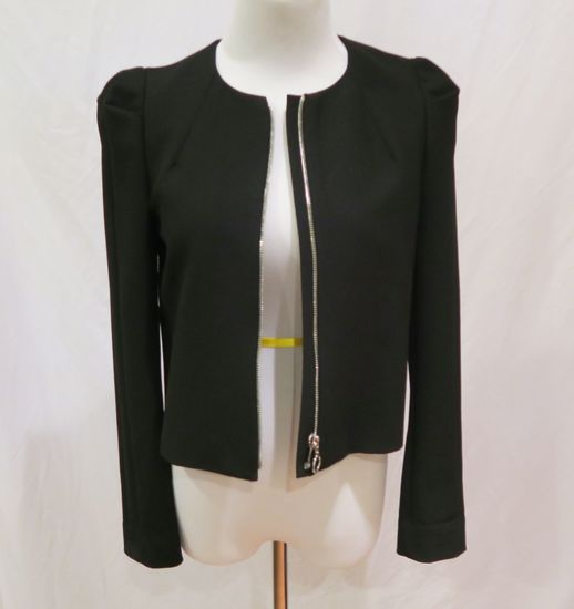Zara Black Zip Jacket, size S, worn