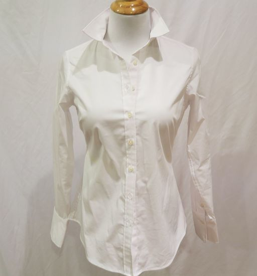 Banana Republic White Button-up Blouse, size 2P, new with tags
