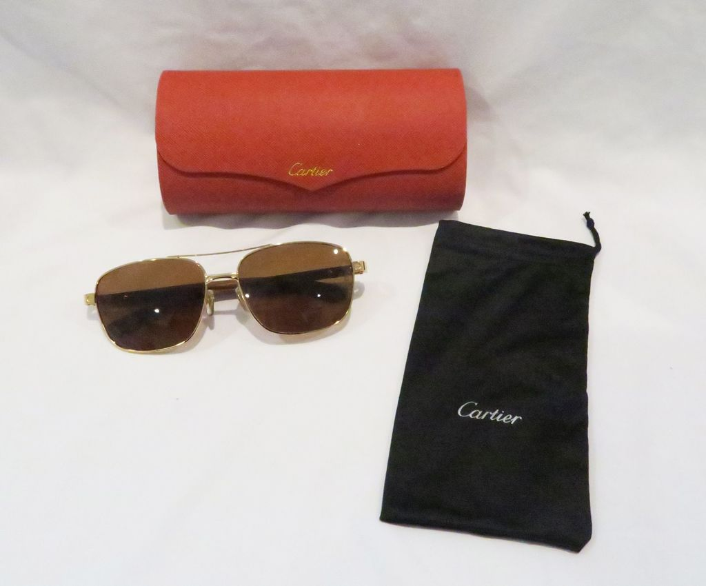 Cartier Sunglasses with case and dust bag