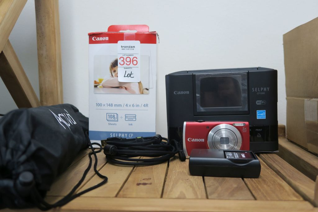 Canon Selphy Printer with Canon 16Megapixel Camera, Tripod, Box Photo Paper