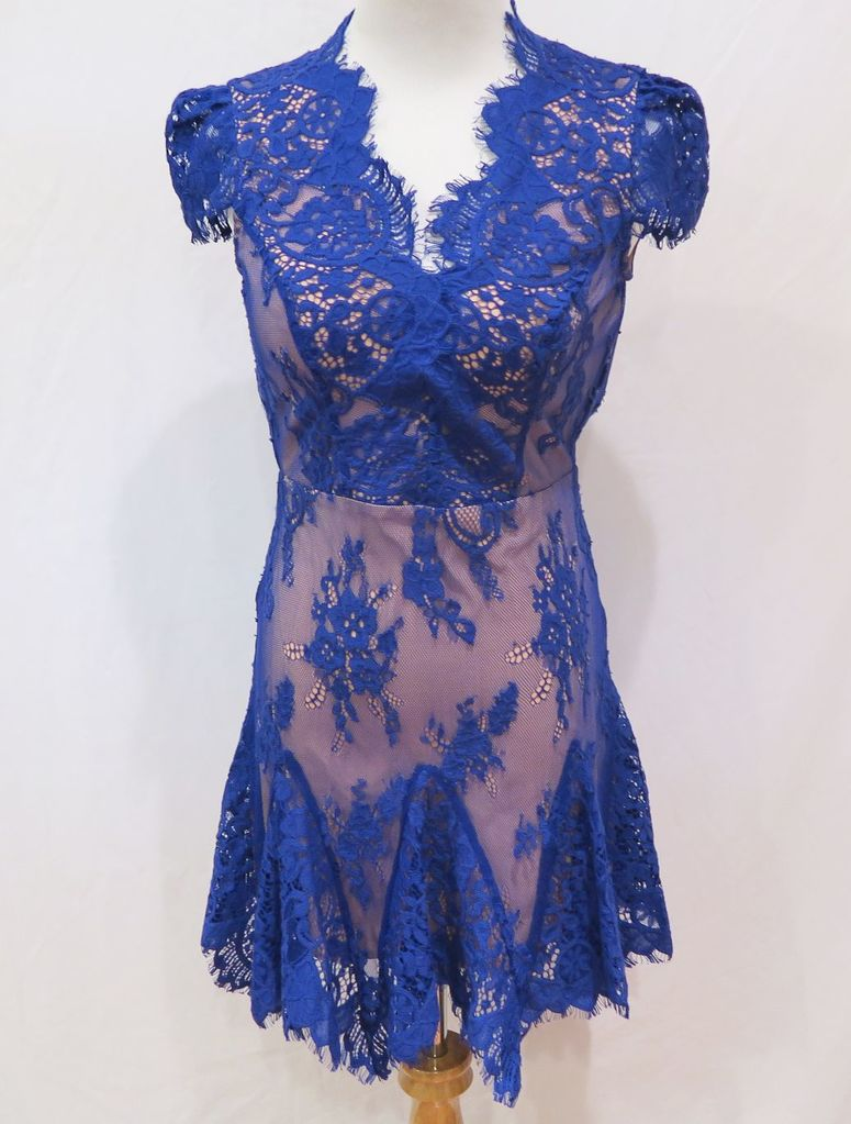 Bebe Purple Lace Mini Dress, size 00, new with tags