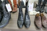 Luchese Black Leather Cowboy Boots, size 11.5 D