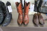 Dan Post Brown Leather Cowboy Boots, size 11.5D