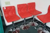 Red and Chrome Barstools