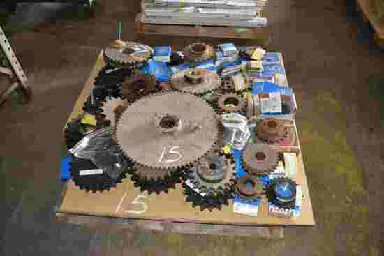 PALLET OF NEW SPROCKETS