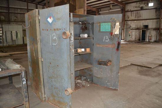(2) STEEL METAL CABINETS