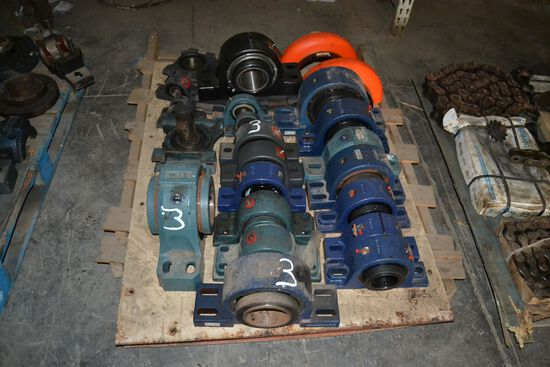 PALLET OF NEW & USED BEARING