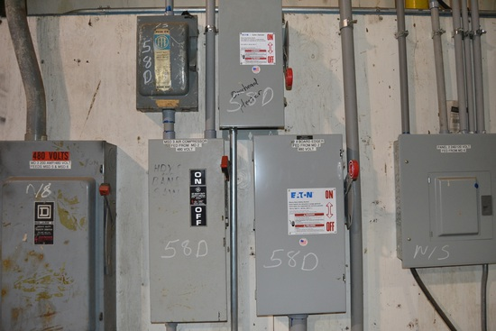 """ELECTRICAL PANEL CONSISTING OF: (2) 100 AMP DISCONNECT"