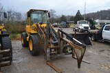 VOLVO L50E ARTICULATING WHEEL LOADER W/ ENCLOSED CAB W/ HEAT & AIR W/ QUICK ATTACH 3RD VALVE & FORKS