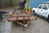 18' TANDEM AXLE TRAILER W/ RAMPS (NO TITLE, BILL OF SALE ONLY)