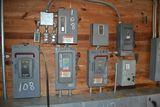 ELECTRICAL PANEL W/2- SIZE 2 STARTERS; W/4- 30 AMP DISCONNECTS