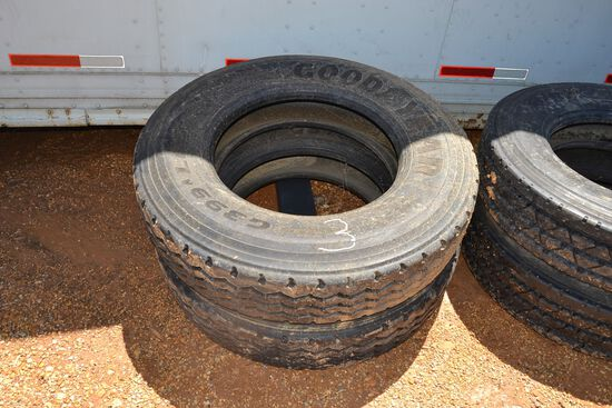 2 NEW 11R 24.5 TIRES