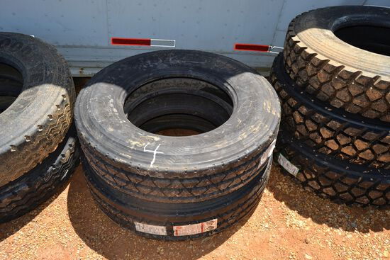 2 NEW 295-75R 22.5 TIRES