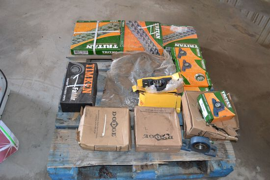 LOT OF NEW BEARING & CHAIN