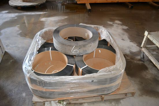 9 ROLLS OF PLASTIC BANDING