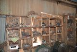 SHELF & CONTENT W/ CHAIN PULLEYS, SPROCKETS & BEARING
