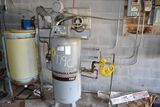 INGERSOLL RAND 5 HP 3 PHASE UPRIGHT AIR COMPRESSOR LOCATED IN BOILER BUILDING