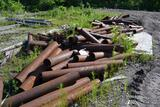 LOT OF PIPE STYLE LUMBER ROLL OUTS
