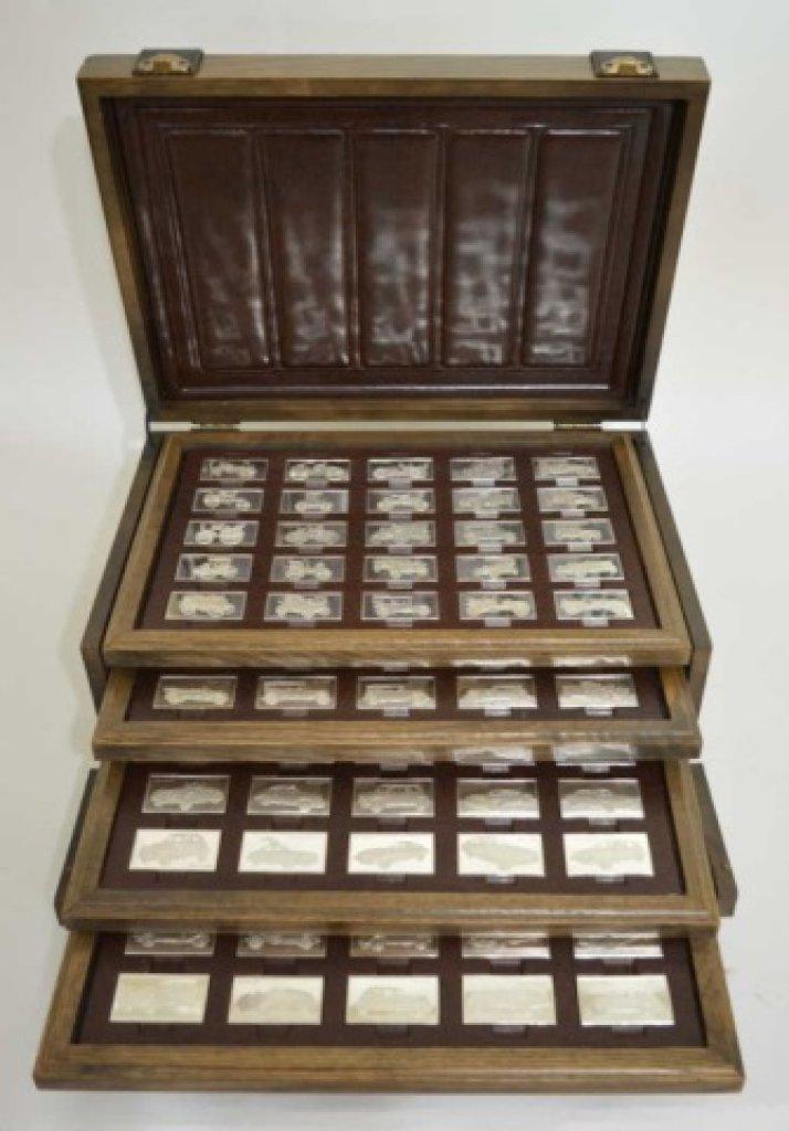 Franklin Mint Centennial Car Silver Bar Collection