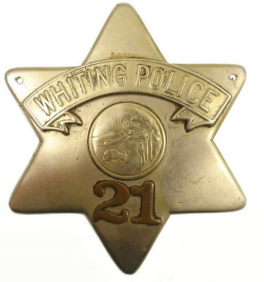 Obsolete Lansing IL Police Pie Plate Badge #21