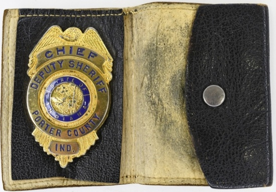 Obsolete Porter County Chief Deputy Sheriff Badge
