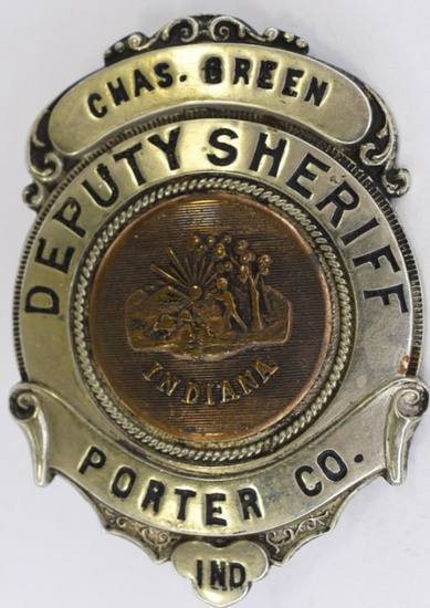 Obsolete Porter County Deputy Sheriff Named Badge
