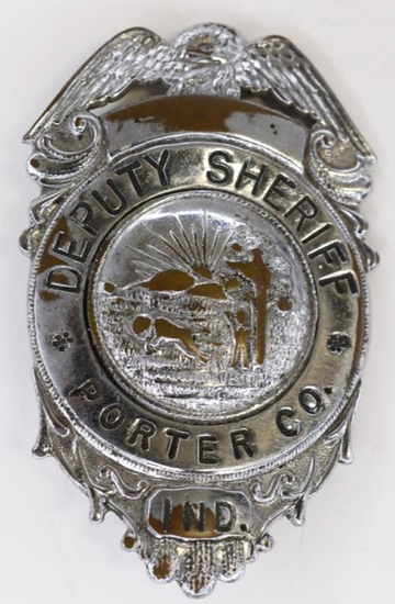 Obsolete Porter County IN Deputy Sheriff Badge