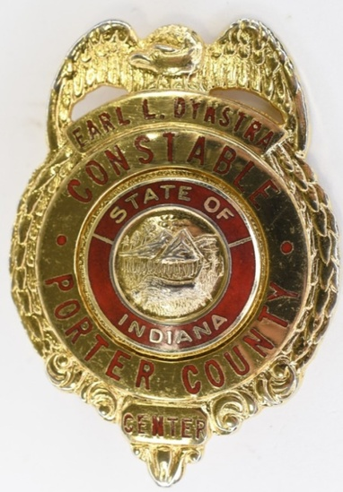 Obsolete Named Porter County IN Constable Badge