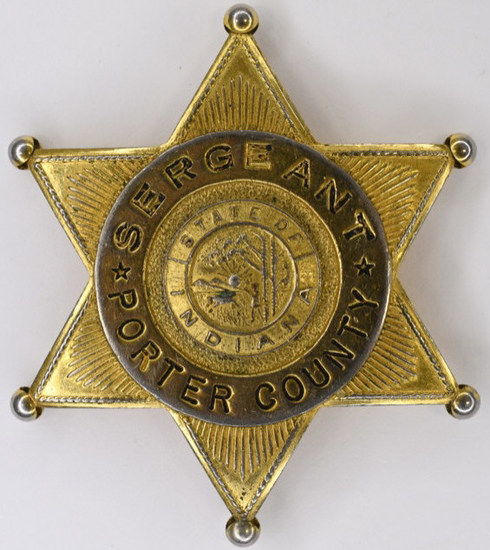 Obsolete Porter County Indiana Sergeant Badge