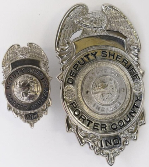 Obsolete Porter County Deputy Sheriff Badge Set