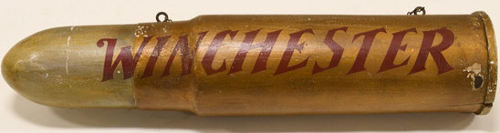 Winchester Wooden Bullet Trade Sign