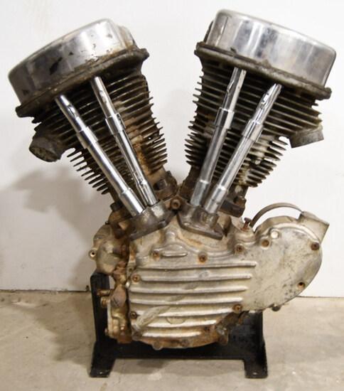 1949 Harley Davidson FL Panhead Engine