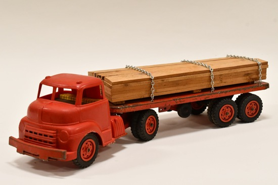 Wyandotte Lumber Hauler Truck and Trailer