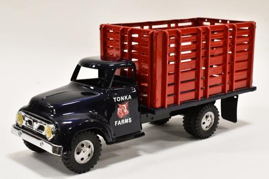 Restored Tonka Farms High Rack Stake Truck